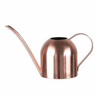 Mini Stainless Steel Copper Metal Rose Gold Watering Can Handle Long Neck Nozzle Watering Can High Quality Cooper Water Can