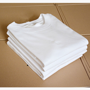 150gsm 100% Cotton cotton loose short sleeve white T-shirt