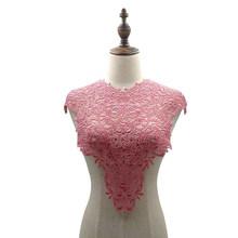 Кружевной воротник, Высококачественная белая кружевная ткань, вышитая аппликация на воротнике для отделки, швейные принадлежности рукодел...(Китай)