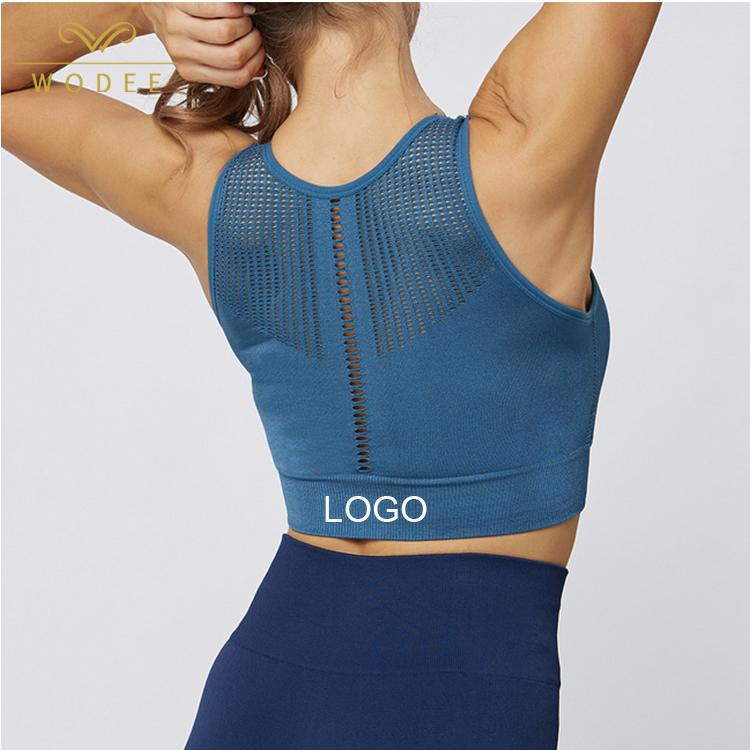 Grosir Yoga Memakai Longline Bra Olahraga Atas Wanita Seamless Sport Bra