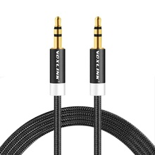 Voxlink 3.5 Mm <span class=keywords><strong>Kabel</strong></span> Audio <span class=keywords><strong>AUX</strong></span> <span class=keywords><strong>Kabel</strong></span> Male Ke Male <span class=keywords><strong>Kabel</strong></span> Ekstensi Berlapis Emas <span class=keywords><strong>Kabel</strong></span> Tambahan untuk iPhone/Mobil /Media Player