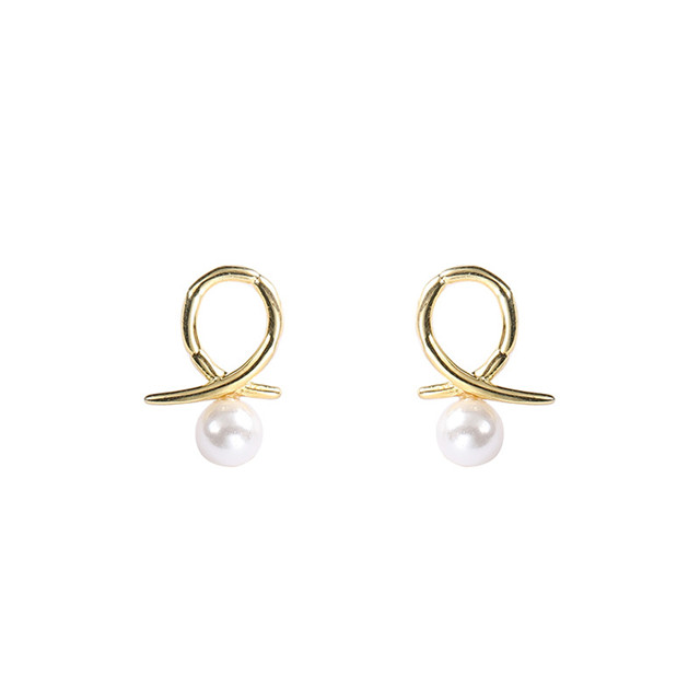 Natural Freshwater Pearl Jewelry Women 925 Sterling Silver Gold Pearl Earring