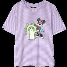 Женская футболка ELFSACK Harajuku, фиолетовая футболка с забавным графическим принтом, повседневные топы на каждый день в Корейском стиле с радужн...(China)
