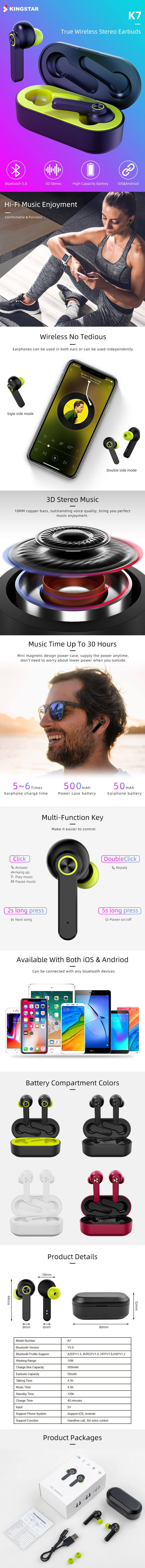 Promotion Gift Innovative Bluetooth 5.0 Tws Wireless Earbuds