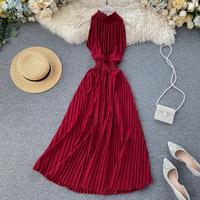 Sexy Halter Neck Sleeveless Maxi Dress For Women