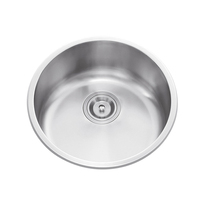 DS 430 China Round Bowl outdoor table stainless steel basin kitchen single bowl Washing Basin