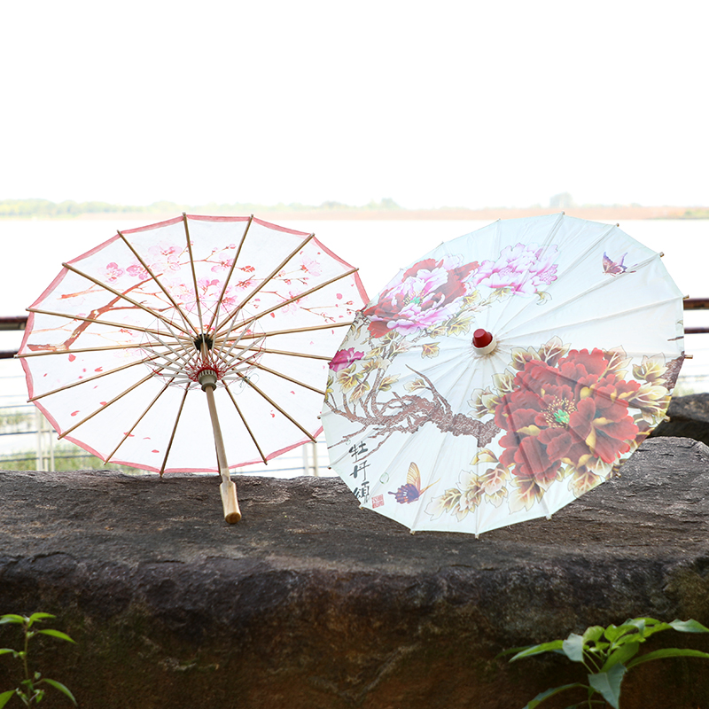 chinese traditional handmade parasol folded oil paper umbrellas for wedding