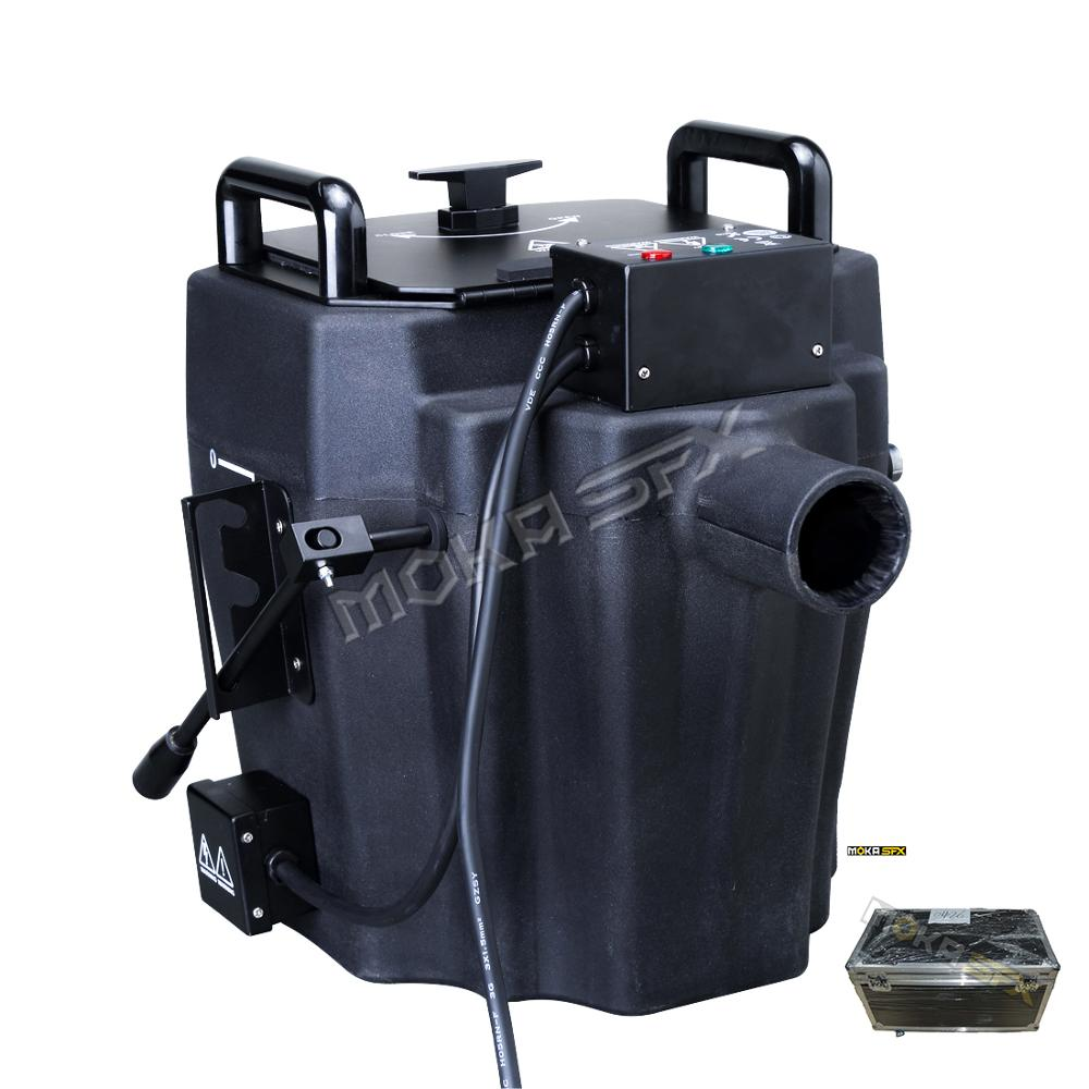 High Power 6000W Dry Ice Fog Machine Handleiding Controle Rook Fog Machine Met Flightcase Voor Bruiloft Decoratie