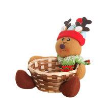 Рождественская корзина для хранения конфет, праздничные вечерние украшения для дома, корзина для хранения Санта Клауса, подарок ручной раб...(Китай)
