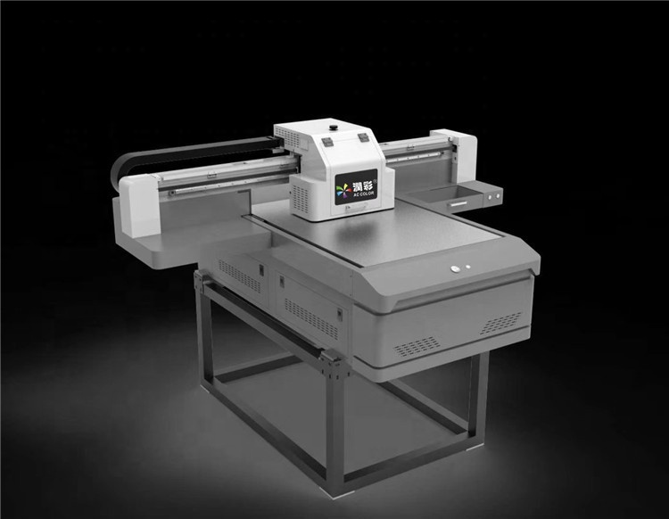 60*90cm 3 Heads 3D Effect Flatbed Digital Inkjet UV Printer with White and Varnish
