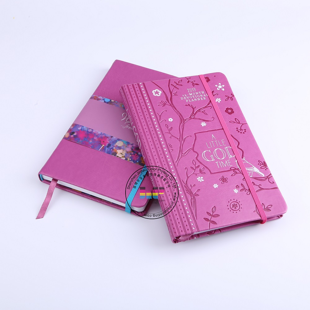 2020 China New Custom Designed Full Color hardcover Sewing Binding Leather Diary Printing Service