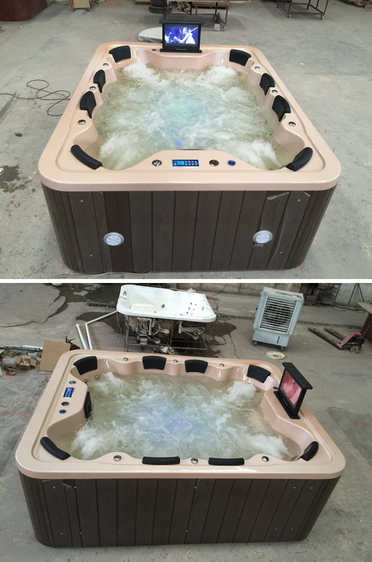 HS-B018G spa 8 person/ above ground hot tub/ 8 seats whirlpool spa hot tub