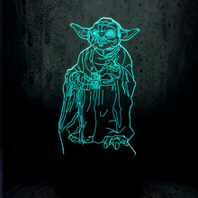 SOCOVE SC3D-239A 7 couleurs charge <span class=keywords><strong>wars</strong></span> Master Yoda veilleuse pour les Fans de <span class=keywords><strong>Star</strong></span> de cinéma
