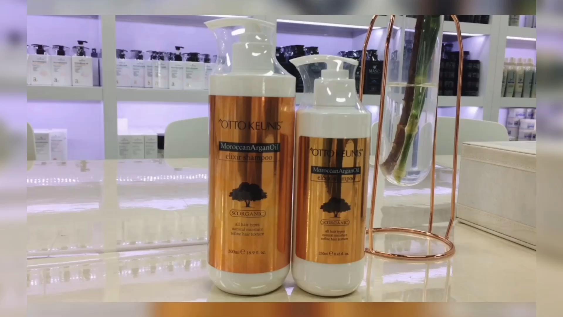 Angepasst Logo Creat Ihre Eigene Marke Arganöl Shampoo und Conditioner Organischen Kopfhaut Pflege Haar Produkt