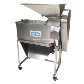 Grape stalk removing machine