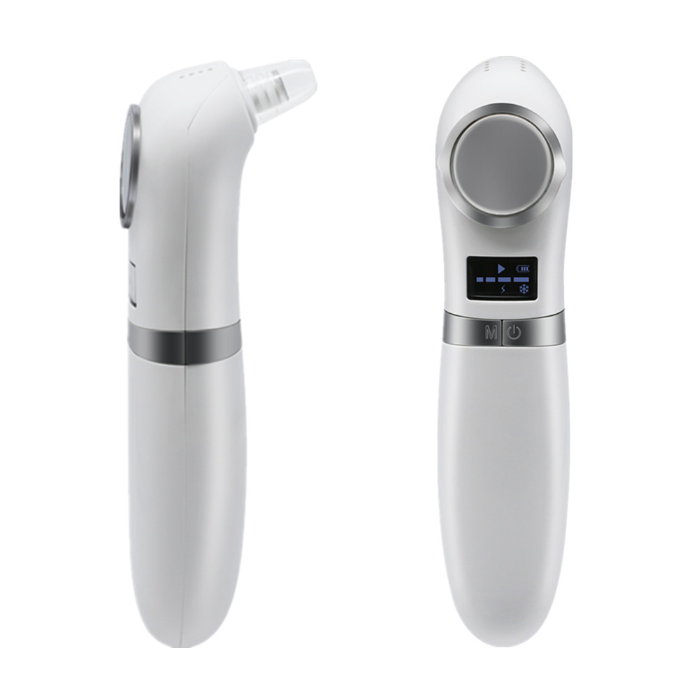 Hot Cold Face Massager Rechargeable Acne Extractor Kit Blackhead Remover Vacuum Pore Cleaner