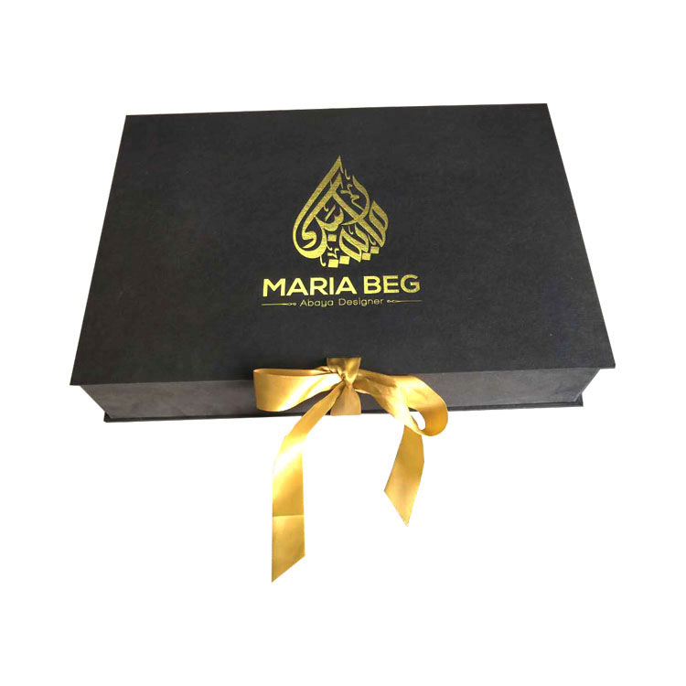 Collapsible Matte Black Clothing Packing Gift Boxes