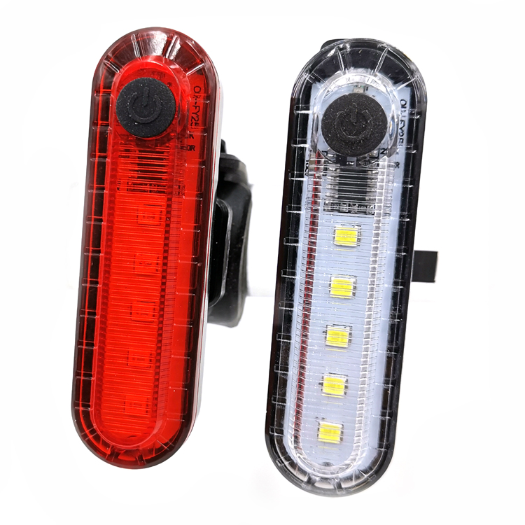 super bright 5 leds white red light beam rechargeable usb charging 4 light modes bike riding warning lamp bicycle rear light