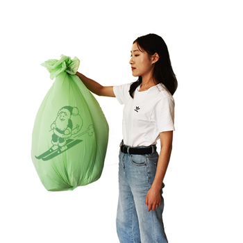 3 Gallon biodegradable corn trash bag EN13432 certified compostable bin liner