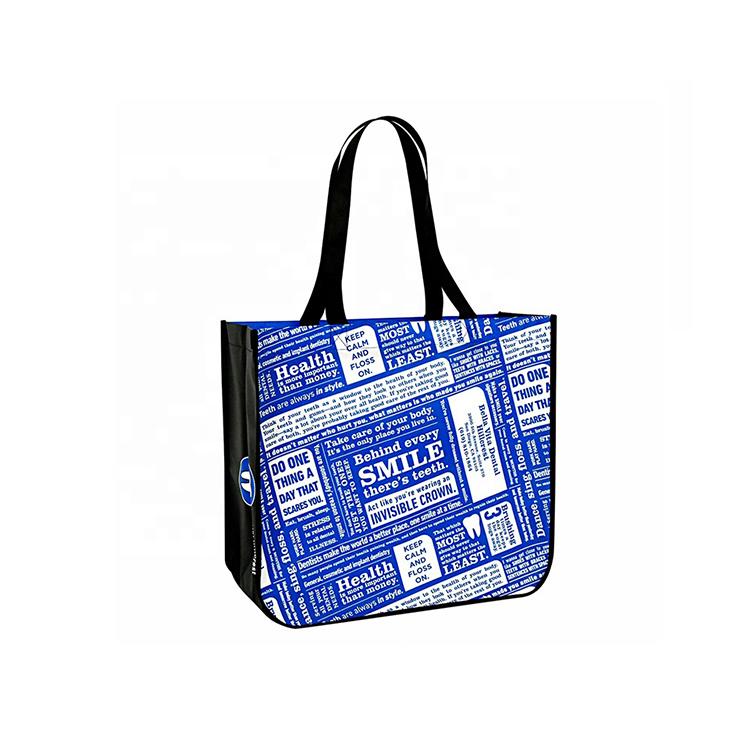 2020 new arrivals small reusable custom logo printing pp tote non woven shopping bag