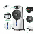 Good price Ningbo factory rechargeable mist fan air cooling fan with remote