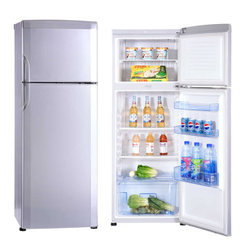 Big Size 350L Home or Hotel Top Electric Colored Stainless Steel double Door Refrigerator Fridge