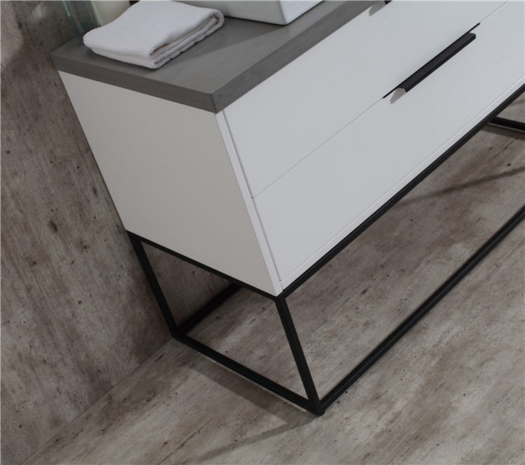 Oem Design Modern Mdf White Gloss Bathroom Storage Countertop Cabinet