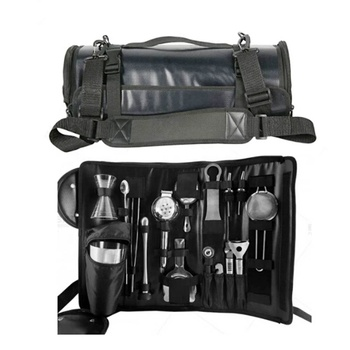 professional portable leather bartender tool bag