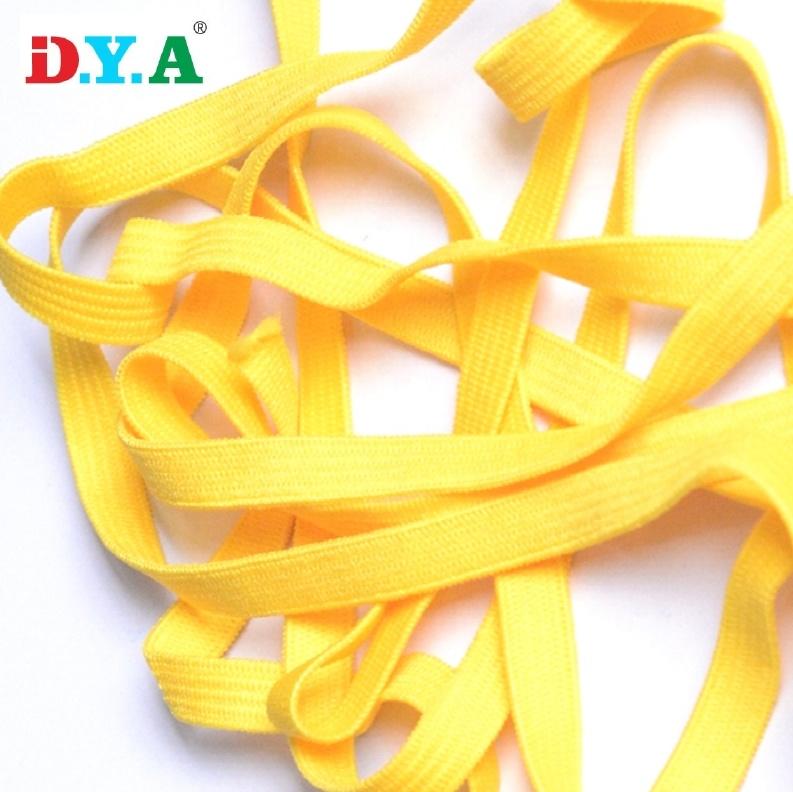 1/4 Inch Brede Elastische Bands Geel Elastische Cord Rope String Voor Diy Maskers
