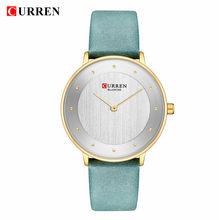 Красивые женские кварцевые часы CURREN горячие женские часы Подарки для женщин тонкие модные кожаные женские наручные часы Reloj Mujer(Китай)