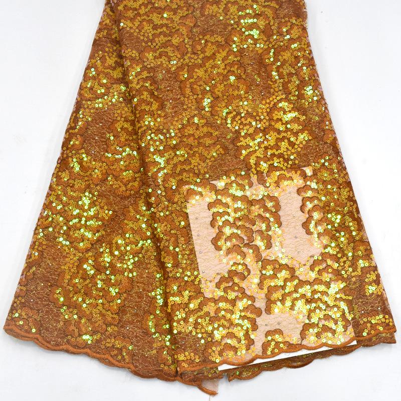 Tốt Nhất Sản Phẩm Bán Chạy Mới Nhất Sang Trọng Handmade Ren Sequin Vải, Rượu Sâm Banh Vàng Ren Vải, Sequin Ren Vải Thêu
