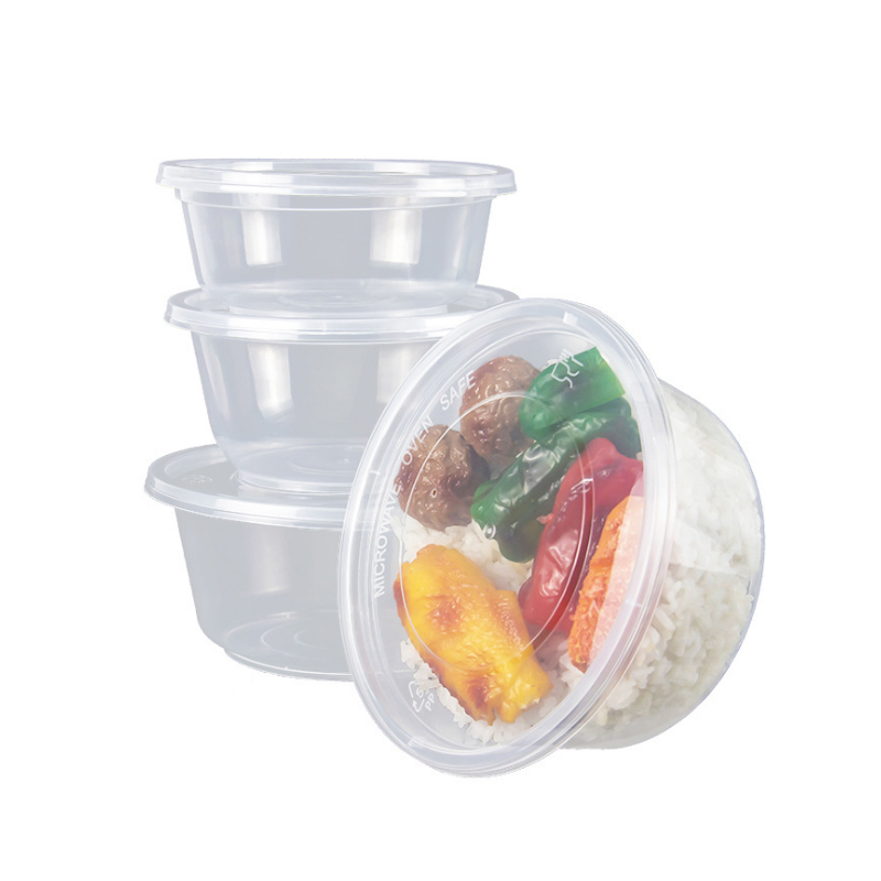 Eco Vriendelijke Recyclebaar 550ml 18oz Wegwerp Plastic Magnetron nemen weg Fruit Verpakking Containers