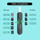 Best Price plastic 2 in 1 Type C card reader Support SD Card and TF Card Reader For Mobile Phone