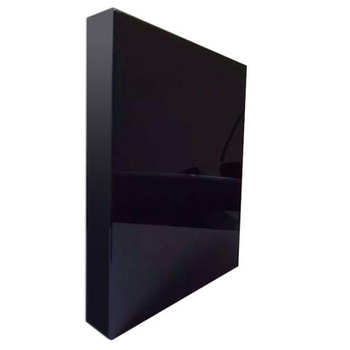 Manufacturer toughened 8mm Architectural Construction Building project black  tempered laminated  glass wall panel  Wholesale