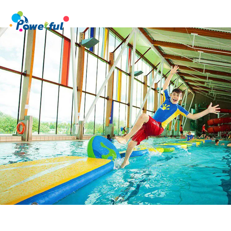 Public Pool Inflatable Floating Connect Wiggle Bridge For Water Game