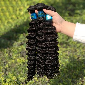Free Shipping Brazilian Deep Wave Hair Weave Bundles 100% Vigrin Human Hair 1/3 Piece 10-30 inch Remy Cuticle Aligned Hair
