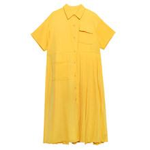 Женское винтажное платье XITAO, свободное платье размера плюс с карманом и одной грудью, в этническом стиле, DMY4747(Китай)