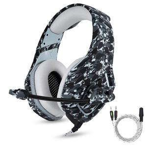 Camouflage K1B New 3.5mm Stereo Plug Headphone Gaming Headset for PS4/X box/PC