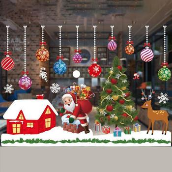 Christmas window snowflake stickers decoration holiday celebration Christmas winter wonderland party decoration supplies