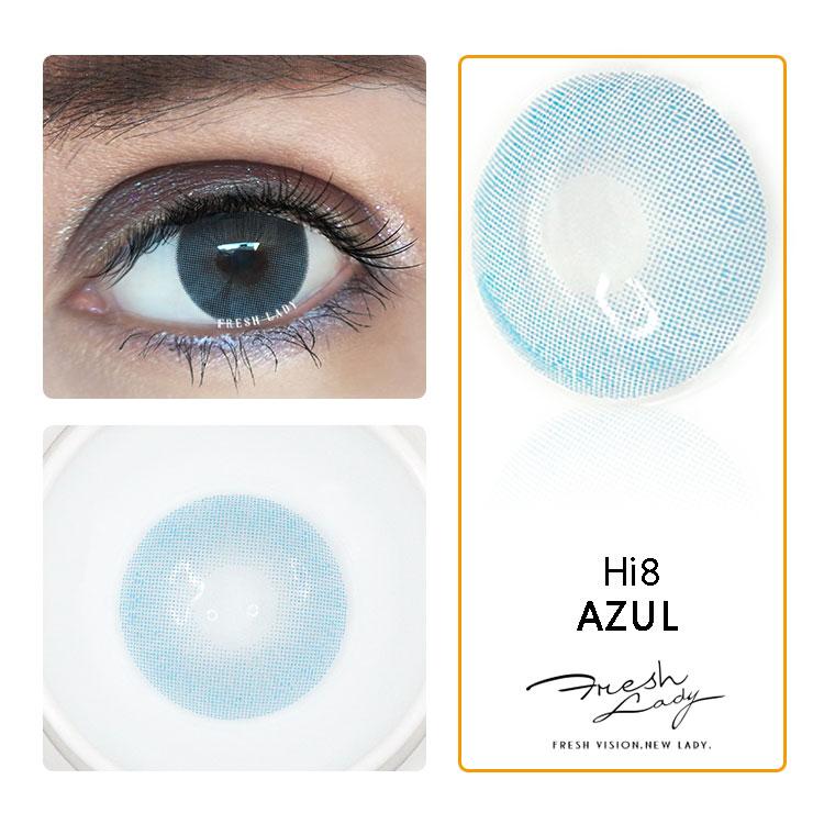 Nouvelle 13 couleur confortable Nouvelle Arrivée Azul bleu lentilles de contact colorées annuel