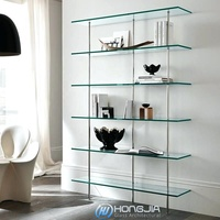tempered hot curved glass shelf for bathroom book shelf