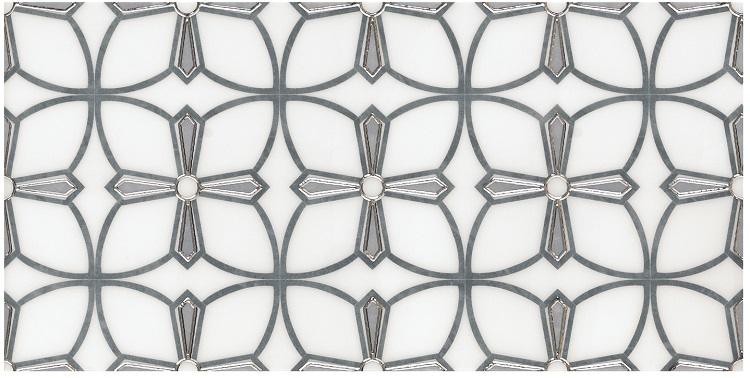 hot selling Water jet Mosaic Tile Water jet design porcelain tiles new water jet pattern decor tile