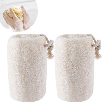 4Inch Loofah Body Scrubber, natural loofah bath sponge with rope