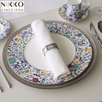 Japanese high quality tableware beautiful plate ceramic porcelain for weddings and restaurants