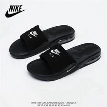 """Оригинальные кроссовки Nike Asuna Slide """"RGreen/White"""" из мягкой кожи; Повседневная пляжная обувь; Мужские тапочки; Размеры 40-45()"""