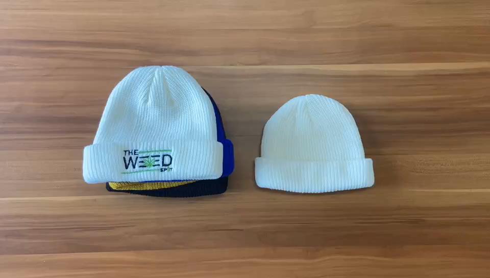 Toptan özel örgü şapkalar işlemeli Logo sıcak bere erkek kış şapka