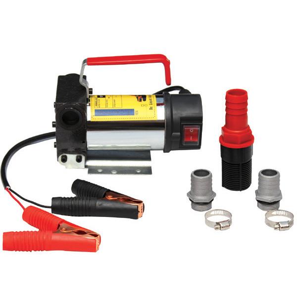 Portable 12V DC Electric Fuel Transfer Pump Kit Works With Diesel Kerosene Oil