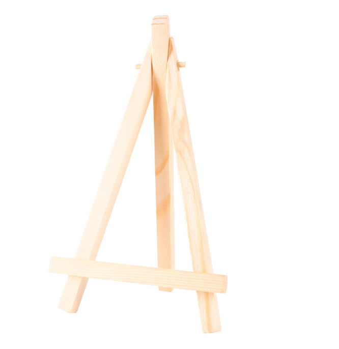 8*15cm High quality customize decoration display easel mini wood table paint easels for kids mini easel