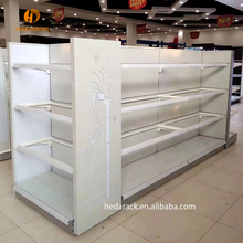 Double side gemak store display plank/rack gondel rekken fabriek