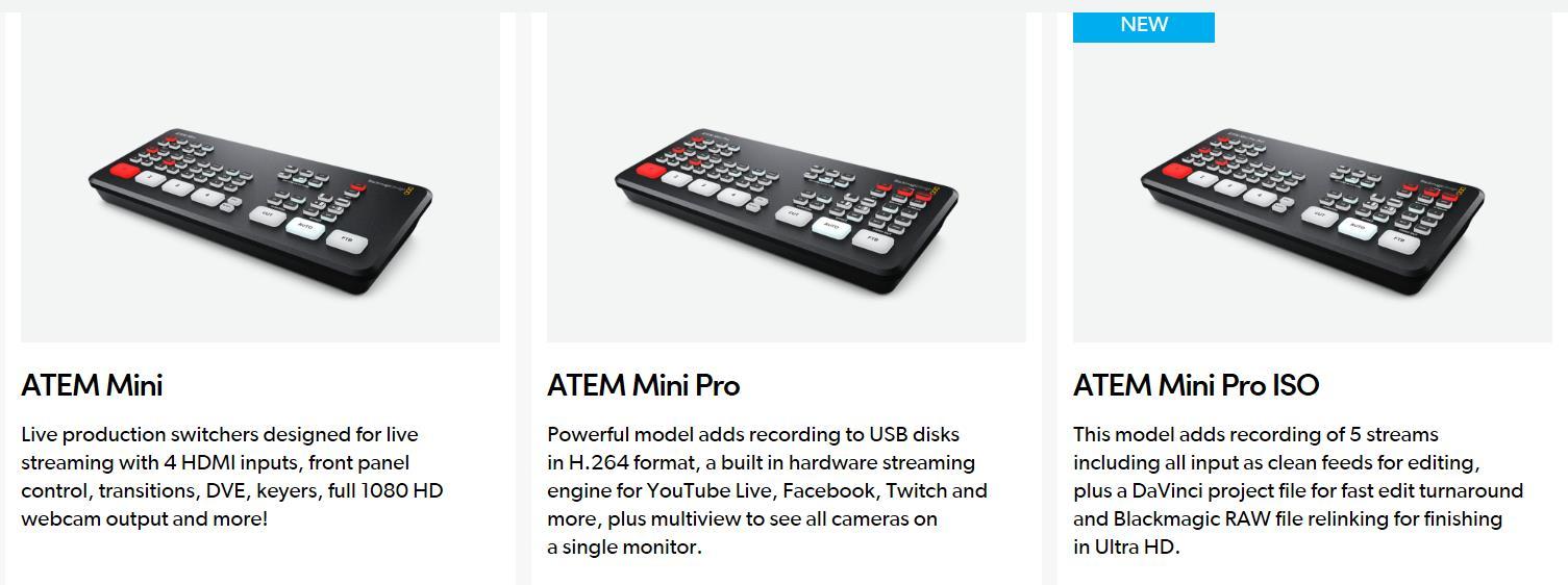 Blackmagic Atem Mini Pro Atem Mini Atem Mini Pro Iso Live Stream Switcher Multi View Recording New Features Video Switchers Buy Atem Mini Pro Atem Mini Atem Mini Pro Iso Video Switchers Product On Alibaba Com